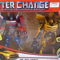 Jual Robot Transformers Optimus Prime dan Bumblebee Interchange Murah