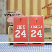 Case HP Custom Hardclear Oppo Find 7  Erik dan Yessica