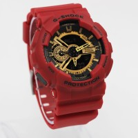 g shock ga 110 merah red lis gold plat gshock ga110 kw super
