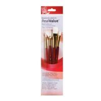 Princeton RealValue Taklon Brush Sets - Set of 4 (9120)