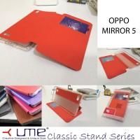 harga Ume Classic View Leather Flip Cover Case Oppo Mirror 5 Tokopedia.com