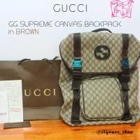 Tas Ransel Cowok / Pria Gucci GG Supreme Canvas