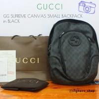 Tas Ransel Cowok / Pria Gucci GG Supreme Canvas Small
