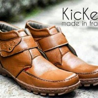 harga Sepatu Boots Kulit 100% Kickers Prepet Tan Tokopedia.com