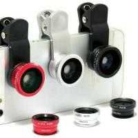 harga Lensa Jepit Kamera Universal ( Lensa Fish Eye , Wide) 3 In 1 Tokopedia.com