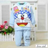 Stkddr22 - Setelan Piyama Anak Doraemon Hat