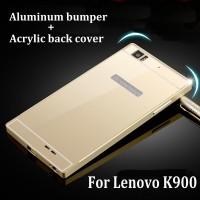 bumper lenovo K900 aluminium with back case cover acrylic