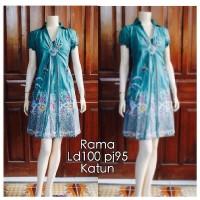 Jual Dress Batik Katun DB 5076 Murah