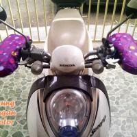SARUNG TANGAN MOTOR ANTI PANAS UNGU