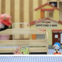 Casing HP Softclear Oppo Find 5 Mini Patrick & Spongebob Custom