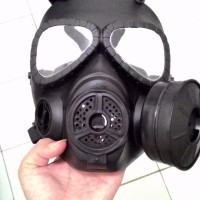 Airsoft Acc Outdoor Gas Mask M04 With Fan Black