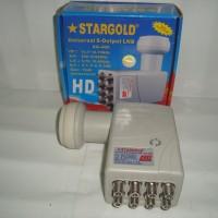 LNB Ku Band Offset Stargold SG 400 Octa Out (Untuk 8 Receiver)