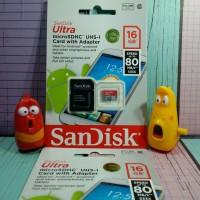 harga Microsd Sandisk 16gb C10 Speed 80mb Tokopedia.com