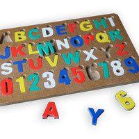 Jual Mainan Edukatif/Edukasi Anak-Puzzle Alphabet Angka Cat Huruf Bsr Murah