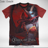 FULL GRAPHIC DTG PRINT T SHIRT KAOS GAME DOTA 2 THE QUEEN OF PAIN