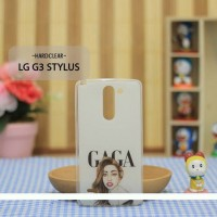 Case HP hardclear LG G3 Stylus Lady Gaga Custom