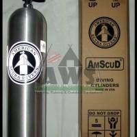 harga Tabung Scuba Amscud 80Cuft (11,2L) silver + K-Valve (bs utk PCP) Tokopedia.com