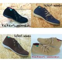 Sepatu Casual kickers Wanita Women Semi boot