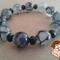 harga Gelang Batu Akik Loreng/sisik Naga Kombinasi Kristal Tokopedia.com