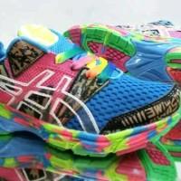 sepatu casual wanita asics noosa multicolour