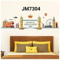 wall sticker england bus 60x90