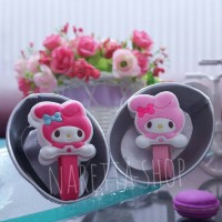 Cord Holder Cute My Melody Bunny Sanrio Fancy (Penjepit Kabel)