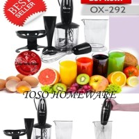 Hand Blender and Chopper Oxone Ox-292 4 in 1, Blender Tangan, Juicer