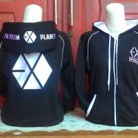 EXO LOGO JACKET hoodie hoody zipper jaket crew 2015 planet kpop korea