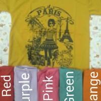 00584-9 Kaos Paris Girl (LD+- 85cm)