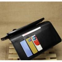 Jual Casing HP Asus Zenfone 6 Leather Wallet Case Dompet Lipat Tempat Kartu Murah