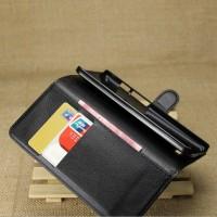 Casing HP Asus Zenfone 5 Leather Wallet Case Dompet Lipat Tempat Kartu