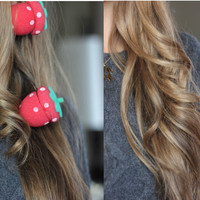 Strawberry Hair Sponge Roller - Etude House Original 100%