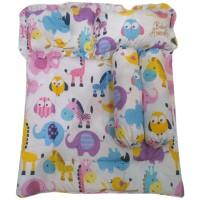 Paket selimut, bantal peang, bantal biasa dan guling animal - PSG022