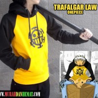 Jaket Sweater Hoodie Karakter Anime One Piece Trafalgar Law - Kuning