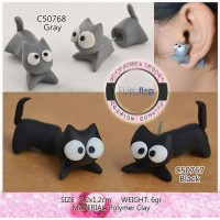 harga Import Anting Tusuk Clay Kucing Lucu - Cat Cute Cartton Stud Earring Tokopedia.com