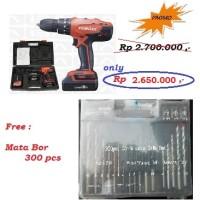 Mesin Bor Tembok Baterai / Impact Cordless Drill 13 Mm Maktec MT081E