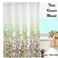 Tirai Kamar Mandi Daun Warna Warni / Shower Curtain Leaves / Gorden