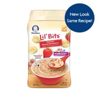 Gerber Lil' Bits Oatmeal Banana Strawberry Cereal 8 oz