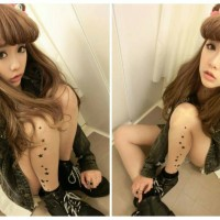 Stocking / Pantyhose Tattoo Star 04 Japan Korea Fashion Import Cosplay