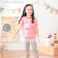 Baju Tidur Piyama Pyjamas Anak Perempuan Gw-131c
