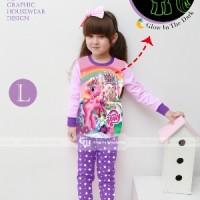 Baju Tidur Piyama Pony Pink Glow In The Dark Anak Perempuan Gw-133l