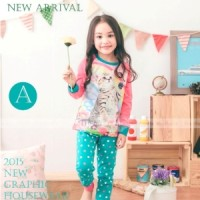 Baju Tidur Piyama Pyjamas Anak Perempuan Gw-131a