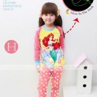 Baju Tidur Piyama Mermaid Glow In The Dark Anak Perempuan Gw-133h