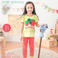 Baju Tidur Piyama Pyjamas Anak Perempuan Gw-131b