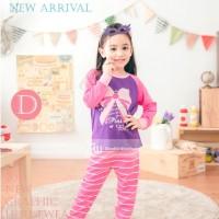 Baju Tidur Piyama Pyjamas Anak Perempuan Gw-131d