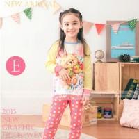 Baju Tidur Piyama Pyjamas Anak Perempuan Gw-131e