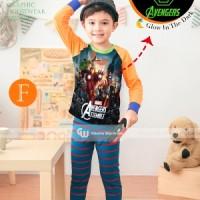 Baju Tidur Piyama Avenger Glow In The Dark Anak Laki-laki Gw-133f