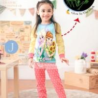 Baju Tidur Piyama Frozen Glow in The Dark Anak Perempuan GW-133J