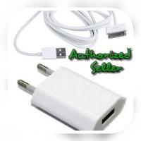 Charger Iphone 4 4s 4g / Casan Iphone / Kabel Data + Kepala Charger
