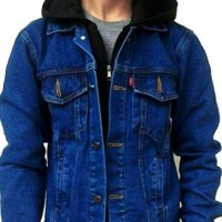 Jual Jaket Ariel Denim Hoodie Blue Sea - Best Seller Murah